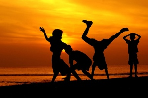 sunset-w-kids-dancing1