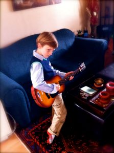 Liam on Guitar
